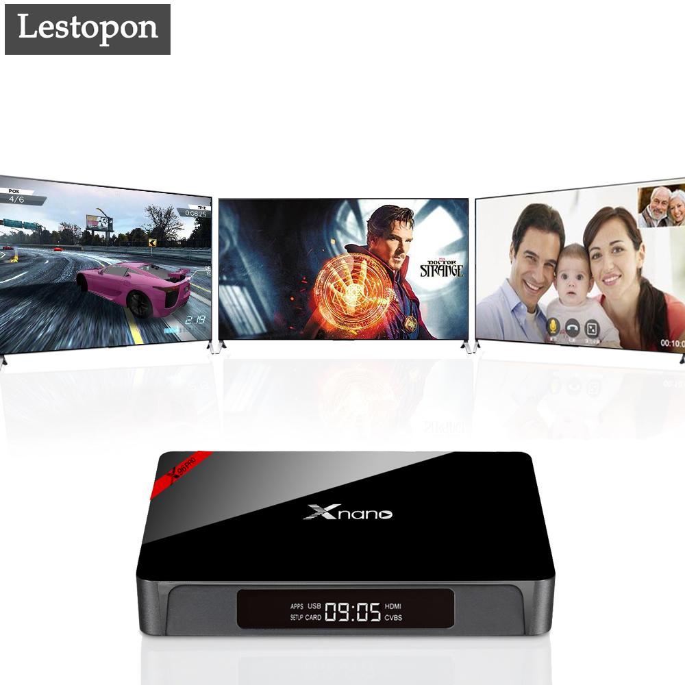 Prix pour Lestopon Android Tv Box X96 Pro Étape-Top Boîtes Accueil Audio Vidéo Smart Tv Box Amlogic S905X HDMI Wifi Smart Récepteur Media Player