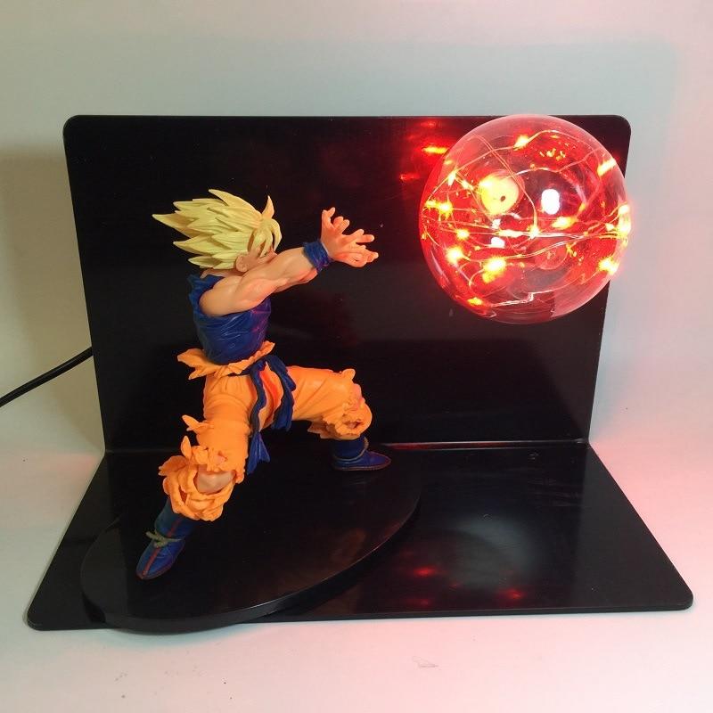 Creative Dragon Ball Z Son Goku Super Siah Table Lamp Set For Children Gift Spirit Bomb Single Light Bulb Led Night Light