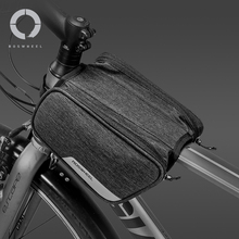 цена на Roswheel Essentials Series 121471 Water Resistant Cycling Bike Top Tube Bag Bicycle Front Frame Pannier Pouch Carrier