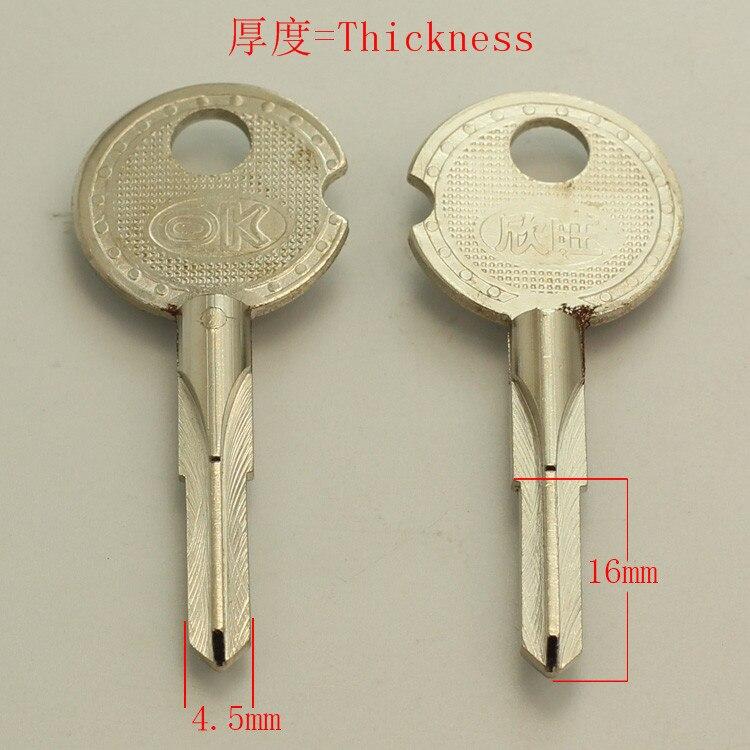 A243 Wholesale Locksmith Keymother Brass House Home Door Blank Empty Key Blanks Keys 20 pieces/lot