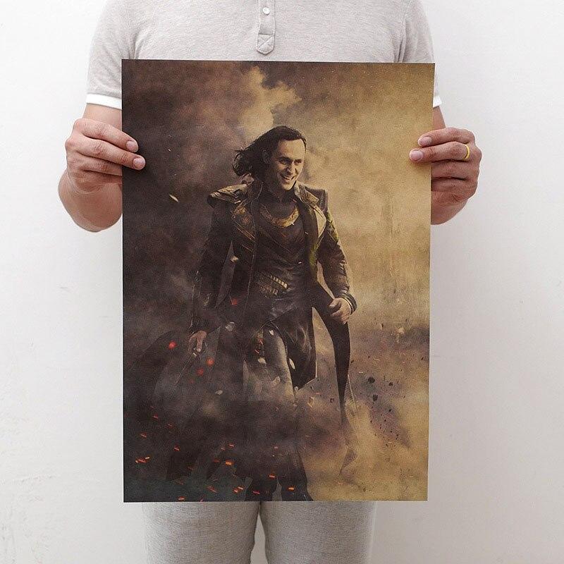 Mling 1 шт., 51,5x36 см, постер из серии Marvel, Мстители, война бесконечности, Ретро плакат, наклейки на стену для гостиной, украшение для дома - Цвет: H18