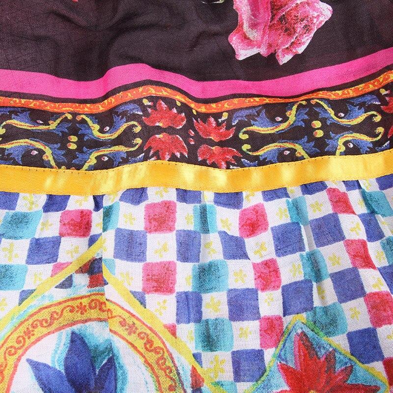 En Matching Un Pokwai Étnico 100 Impreso Largo El Patchwork Medio Color De Verano Estilo Multi Algodón Borla 2018 Nuevo Falda Desgaste p7rpxwaq8