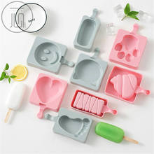 цена на 1 Set Silicone PP Ice Cream Maker Cartoon Animal Fruit Heart Shape Popsicle Mold With Lid Sticks Ice Lolly Form Mould DIY Tool
