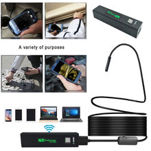 WiFi 1200P Computers Photos Endoscope Ear Spoon Borescope Portable Monitoring Inspection Real-Time Video Mobile Phones