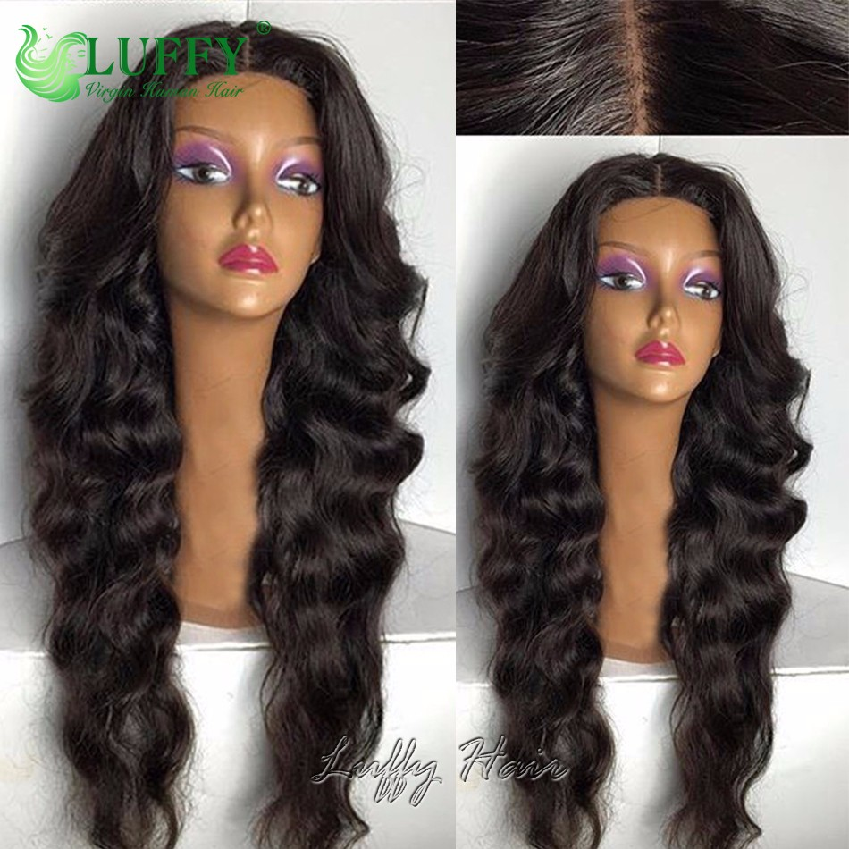 glueless lace front human hair wigs