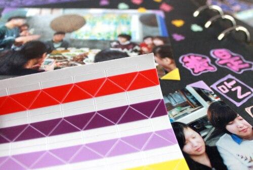 Instax Mini (102 pièces/ensemble) | Matériel fait à la main, accessoires Album rétro, en Pvc, coin Photo, une variété de couleurs, K7450