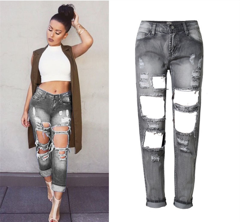 Popular Distressed Capris-Buy Cheap Distressed Capris lots from ...