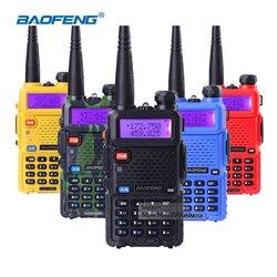 5W walkie talkie dual bands 136-174mhz/400-520mhz vhf uhf ham radio handheld portable two way radio station