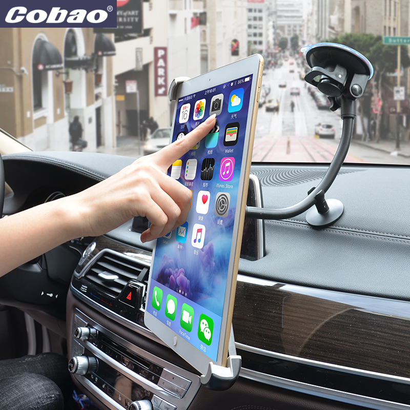 Universal 9.5 10 11 to 14.5 inch tablet pc stand stong suction tablet car holder for Ipad 2 3 4 ipad air 9.7 12.9 inch Ipad Pro aluminum tablet pc stand holder for ipad pro ipad new 2018 air 2 mini 4 surface pro 4 3 docking station cradle anti skid silver