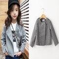 Novas roupas de outono das crianças meninas Trench Coat Outerwear Jaqueta de 2 cores Da Moda