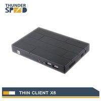 2017 neueste Mini PC Computer Thin Client X6 Linux Embedded 1080 P 1G RAM + 8G FLASH RDP 8,0 Server OS Unterstützung Win7/8/Linux