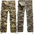 Famosa Marca Calças Táticas Militares de Camuflagem Calças Cargo Macacão de Algodão Masculina Calça Casual Roupas Masculinas
