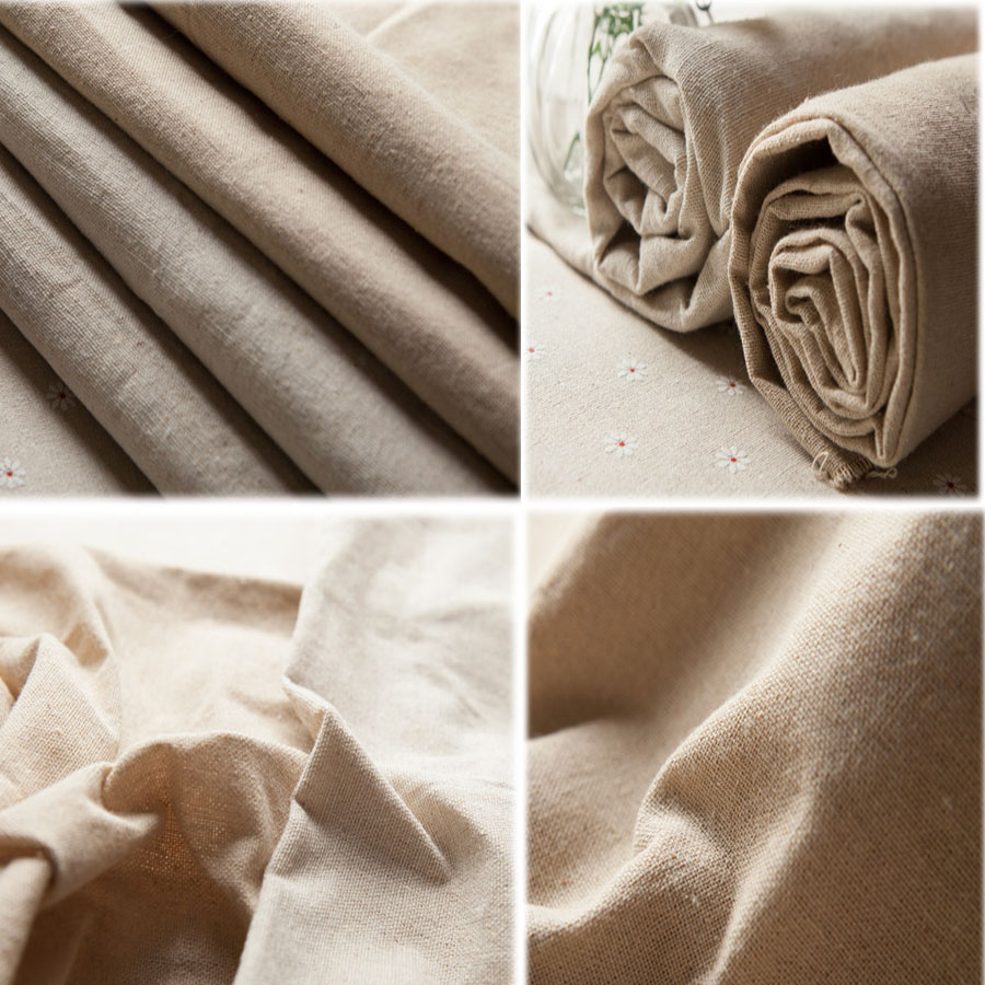 Washing cotton linen cloth handmade diy curtain , bag