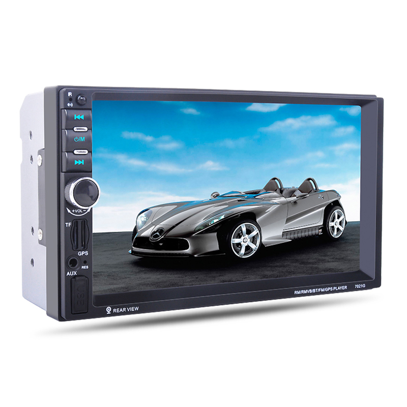 <font><b>7021G</b></font> Car Navigation <font><b>MP5</b></font> Player 7 Inches Car Stereo Audio Player GPS Navigation SD Card with Camera Rearview Camera Europe Map image