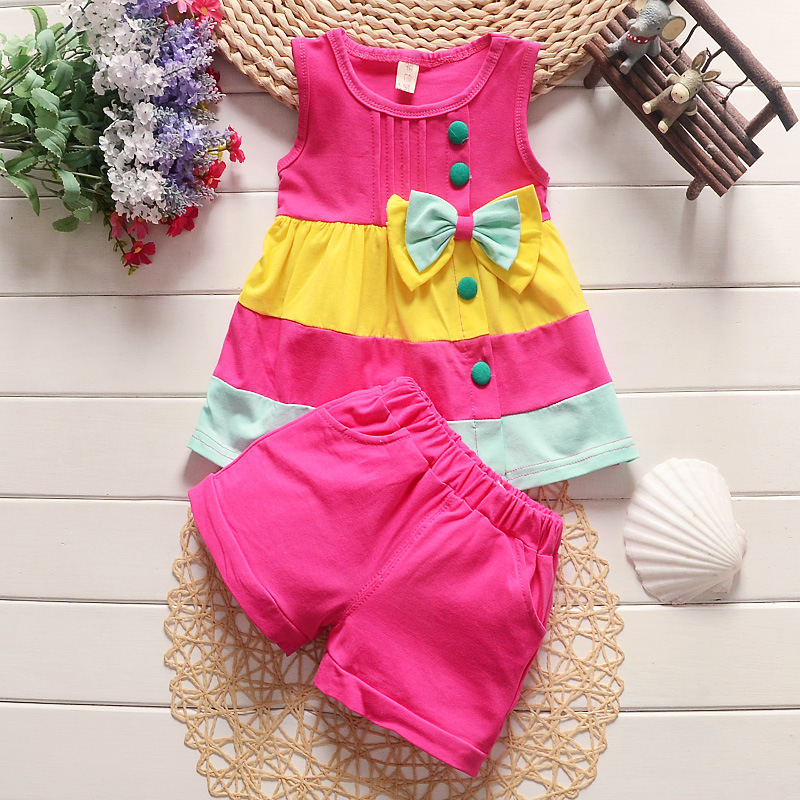 BibiCola baby girls clothing set summer bebe tracksuit infant clothes outfit sport for girl 2pcs set vest+shorts suit 2018 summer baby girls clothing flower tops and tutu skirts 2pcs baby set newborn baby girl clothes infant girls sport suit