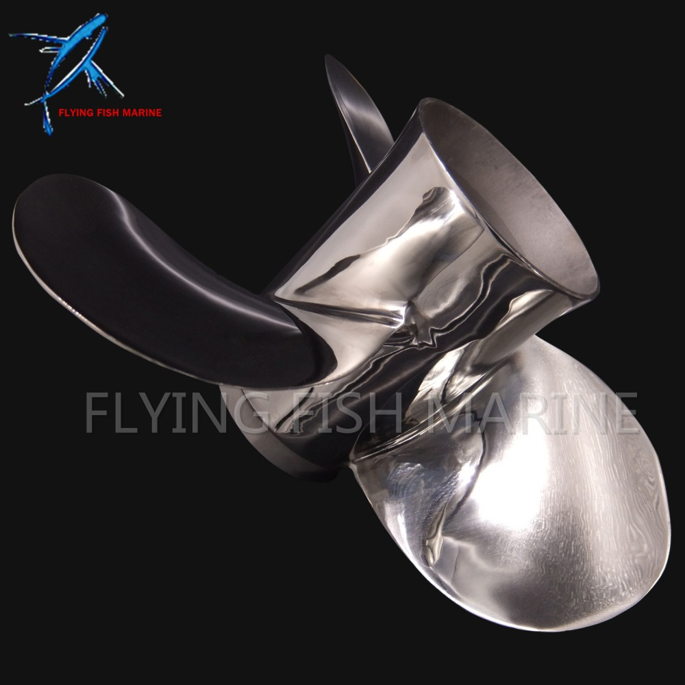 Stainless Steel Propeller 11 3/8x12-G Boat Engine For Yamaha 40HP 50HP Outboard Motor 11 3/8 x 12 -G 13 splines fuel pump 15200 87j10 15200 87j00 for suzuki outboard engine df40 df50 40hp 50hp