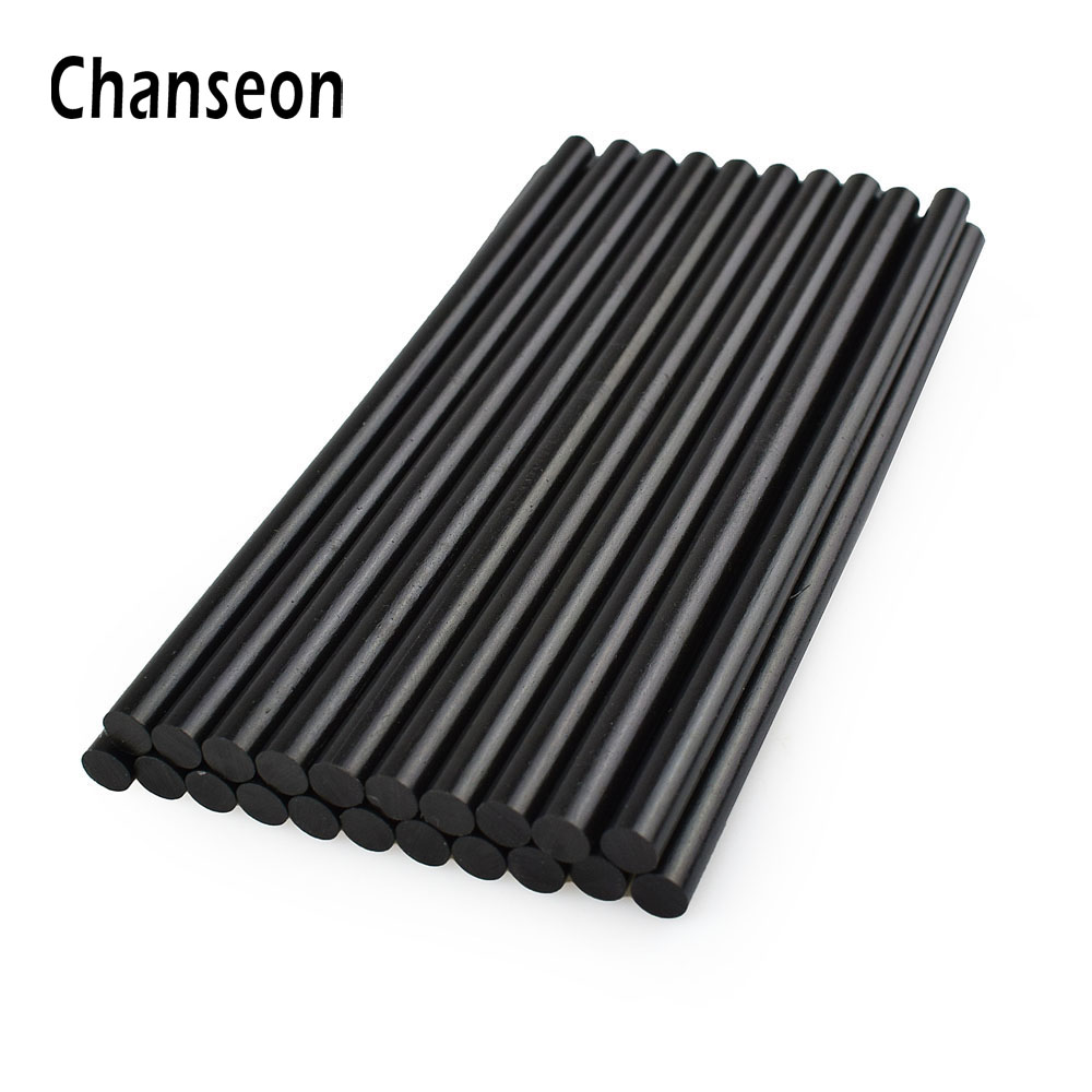 Chanseon Glue Gun Accessories Sticks Adhesive DIY Repair Tools 20 pcs lot 7mm 150mm Black Hot
