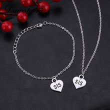 Dawapara Heart Family Series Simple Little Sis Letter Bracelet Jewelry Sets The Best Birthday Gifts For Little Sister(China)
