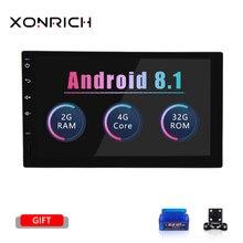 Xonrich 2 din автомобильное радио gps Android 8,1 головное устройство для Nissan X-trail Juke, Qashqai автомобиль NO-DVD мультимедиа аудио стерео навигация