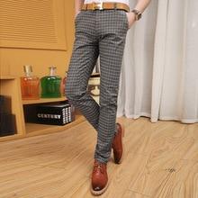 Продажа! бесплатная доставка мужчины плед свободного покроя брюки мужские брюки брюки Большой размер 28 to34, 36 38, 40