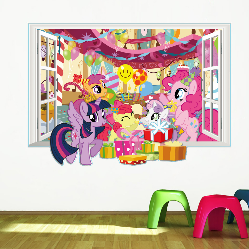 Attractive My Little Pony Wall Decals For Kids Room 3d Window Stickers Diy Mural Art  Children Home Decor Twilight Sparkle In Wall Stickers From Home U0026 Garden On  ...