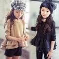 2016 girls dress long sleeve kids party dresses costume kids hello kitti disny princess costume korean children clothing T shirt