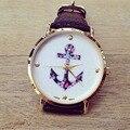 Relógios novo relógio de luxo Relógio Das Mulheres Das Senhoras Da Flor Do Vintage Âncora Couro PU Relógio De Quartzo montre montre femme marca de luxo
