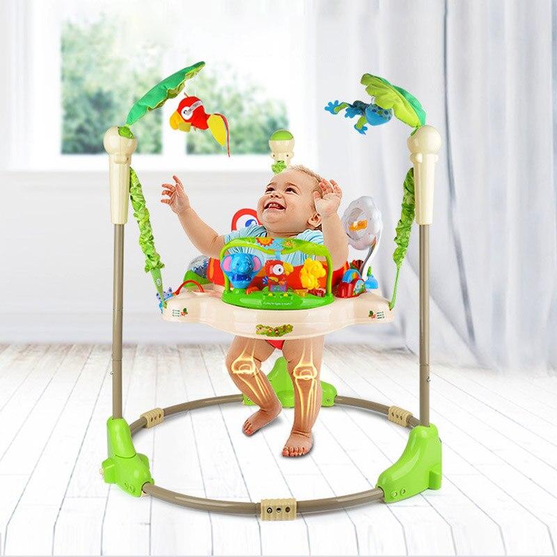 Multifonctionnel électrique bébé sautant marcheur berceau forêt tropicale bébé balançoire musculation chaise berçante bébé Jumper balançoire 3 M ~ 2 Y