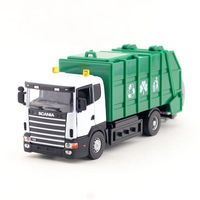 JOYCITY 1 43 Scale Diecast Model SCANIA Garbage Truck Toy Educational Collection Gift For Children Engineering