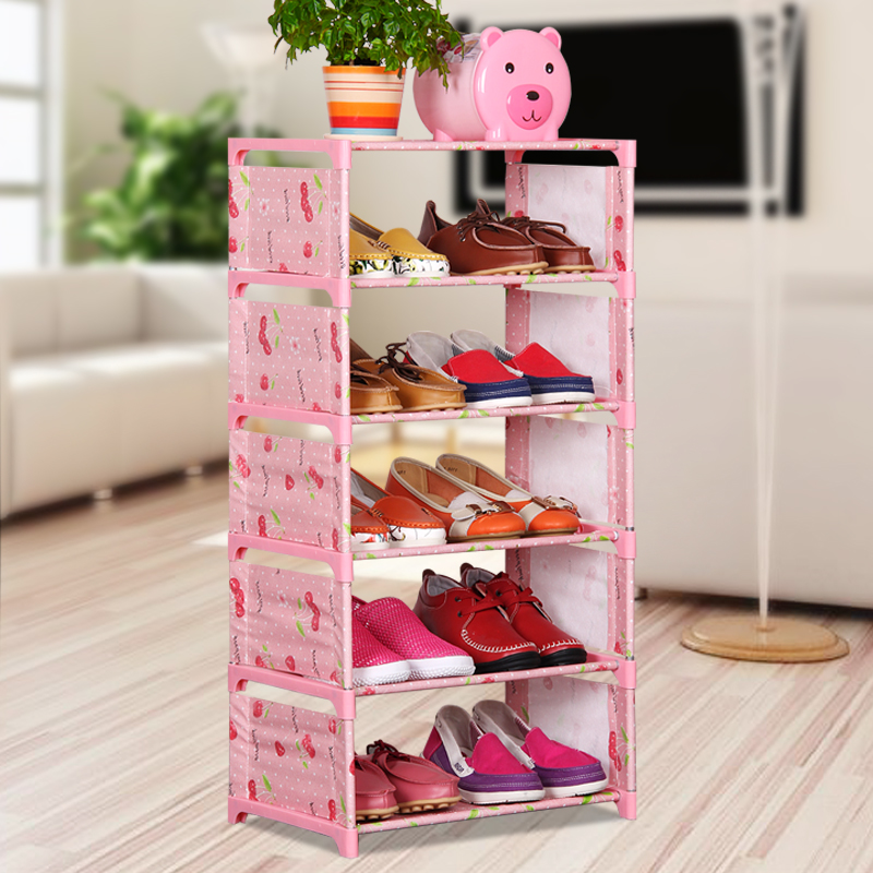 Simple multilayer container dust cloth shoe combination of low economic assembled racks