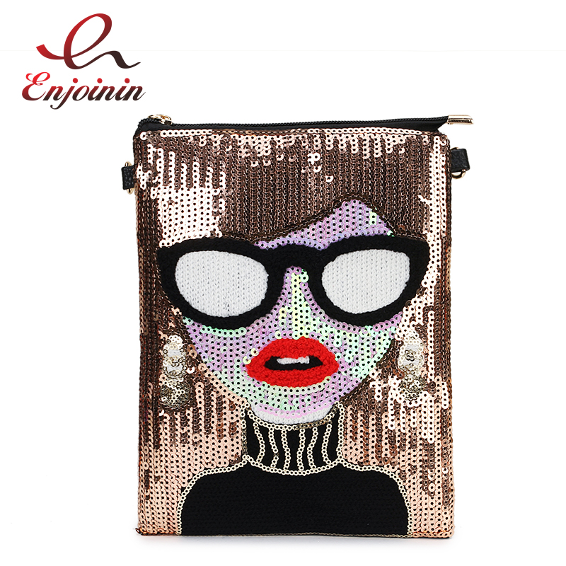 Sequins Sexy Cartoon Characters Fashion Pu Ladies Shoulder Bag Tote Casual Phone Pack Crossbody Mini Messenger Bag Female BolsaSequins Sexy Cartoon Characters Fashion Pu Ladies Shoulder Bag Tote Casual Phone Pack Crossbody Mini Messenger Bag Female Bolsa