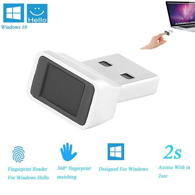 Aluminium Mini USB Fingerprint Reader Modul für Windows 8, windows 10 Scanner Sensor Dongle Instant Touch Acess Modul