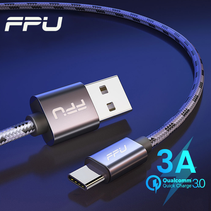 FPU USB Type C Cable For Samsung Xiaomi Redmi K20 Pro Huawei Mobile Phone Fast Charging Cables USBC Type-C Data Charger Kabel 3m