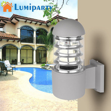 LumiParty 220V LED Wall Light Modern Sconce Lighting Bedside Lamp Waterproof IP65 Outdoor Wall Sconces