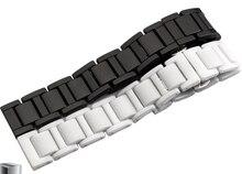 16mm 18mm 20mm Accesorios Reloj de Reemplazo Blanco Reloj De Cerámica Reloj de Despliegue hebilla de Correa de La Venda Pulseras