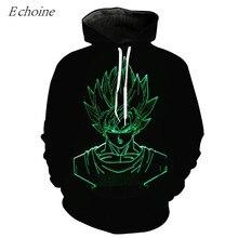 Echoine 3D Print Men's Training Excercise Sweaters Pullover Baseball Hoodies Outwear High Quality Cheap Outwear Sportswear M-6XL