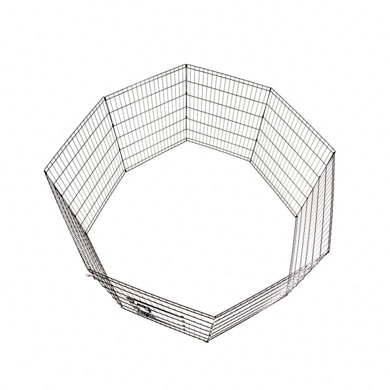 36-Tall-Wire-Fence-Pet-Dog-Cat-Folding-Exercise-Yard-8-Panel-Metal-Play-Pen-Black_4_800x800