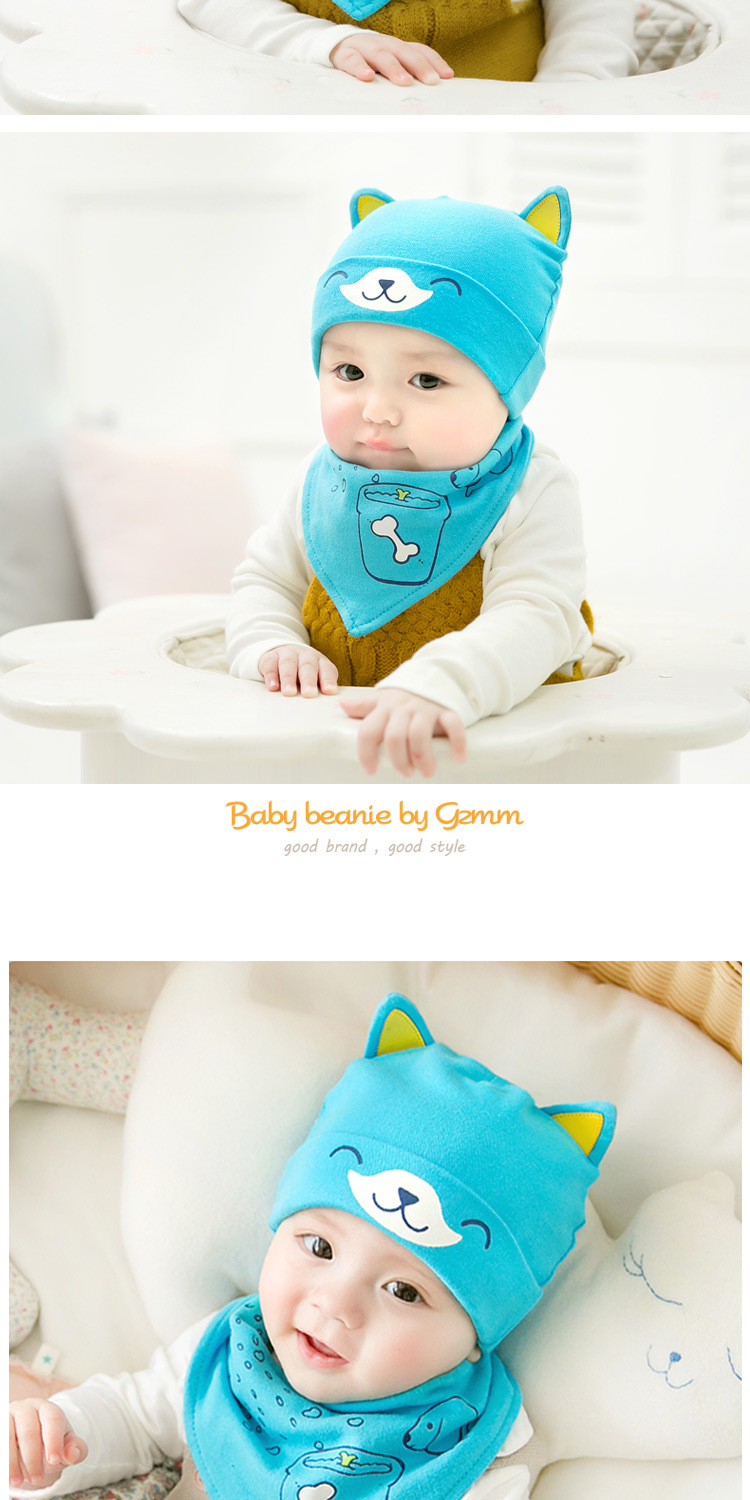 2pcslot Baby infant Winter Hat & Scarf Baby Winter Cap Children Warm Scarf For Boys Suit dog Hats Scarfs For Girl Boy Newborn (8)
