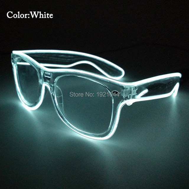 Online Shop Hot High grade Party Glasses Lighting Color White EL ...