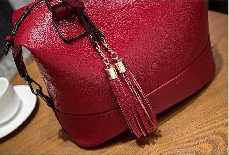 2019 mulheres bolsas de couro genuíno bolsas de marca de luxo bolsas femininas mensageiro designer borla moda feminina bolsas de ombro x43