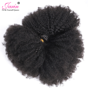 Image 3 - Afro Kinky Curly Hair Weave 1 2 3 6 9 Bundles Deal Remy Hair 100% Human Hair Extension 8 20 Inch Natural Color Jarin Hair Bulk