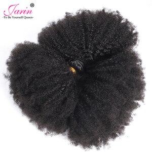 Image 3 - Afro kinky cabelo encaracolado tecer 1 2 3 6 9 pacotes negócio remy cabelo 100% extensão do cabelo humano 8 20 Polegada cor natural jarin cabelo a granel