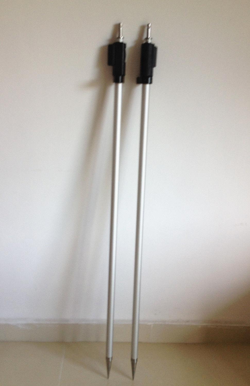 NUOVO 2 PZ 2.15 m prisma pole per stazione totale LEICA PRISMA stile Svizzero tip