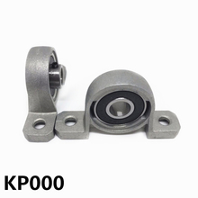 2Pcs Zinc Alloy KP000 Ball Bearing 10mm Bore Diameter Housing Pillow Block Shaft Support Bearing pedestal