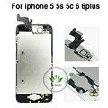 Для iPhone 5 5s 5c 6 6 plus полный Сенсорный ЖК-Экран Digitizer Ассамблеи + динамик + камера + датчик flex полный + home button