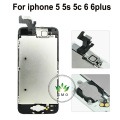 For iPhone 5 5s 5c 6 6 plus complete LCD Touch Screen Digitizer Assembly +speaker+camera+sensor flex full+home button