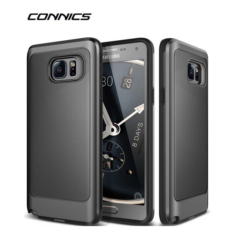 Connics nota 3 4 5 phone case para samsung galaxy s6 s7/edge S8/Más Resistente d