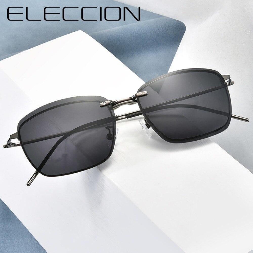 ELECCION 2019 Vintage Glasses Frame Men Polarized Sunglasses Optical Prescription Eyewear Women Frame glasses with Clips in Men 39 s Eyewear Frames from Apparel Accessories