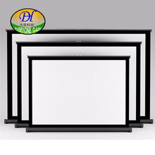 Everyone gain V50 Mini Portable Table Projector Screen 50inch 4:3 Matte White Home Cinema System Manual Pantalla Proyector