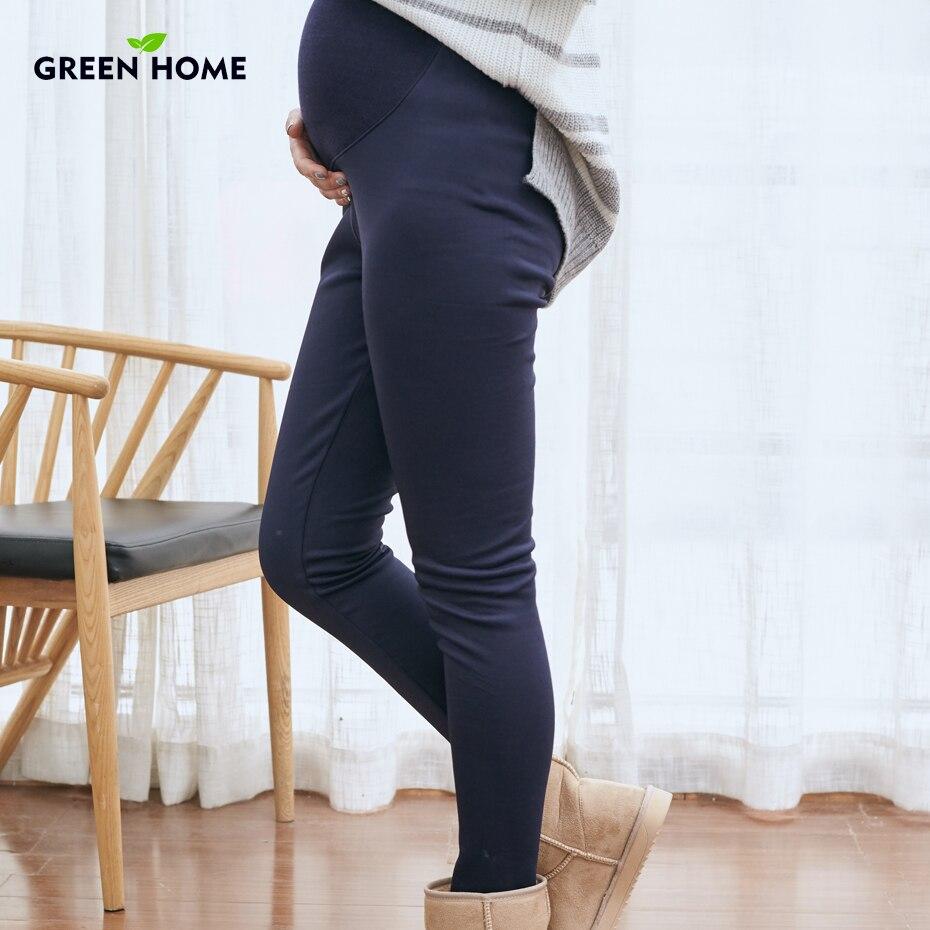 9e8d3380 US $19.97 |Zielony Dom Opieki Brzuch Spodnie Ciążowe Ciąży Legginsy Dla  Kobiet Cienkie Spodnie Spodnie Ubrania Zimowe Legginsy Ciąży w Zielony ...
